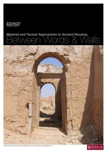 Between Words and Walls: Material and Textual Approaches to Housing in the Graeco-Roman World