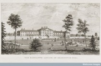 L0034616 The Radcliffe Asylum, Headington, Oxford. Engraving by J. Credit: Wellcome Library, London. Wellcome Images images@wellcome.ac.uk http://wellcomeimages.org The Radcliffe Asylum om Headington Hill, Oxford. Plate to: Useful information concerning the origin, nature, and purpose of the Radcliffe Lunatic Asylum, on Headington Hill, near Oxford, and the pecuniary benefits which it is able to confer upon the friends and relatives of lunatics from respectable and educated life, should their circumstances be such as to require pecuniary aid, Oxford: printed by W. Baxter, 1840 Engraving 1840 By: Joseph. FisherPublished: [1840?]  Copyrighted work available under Creative Commons Attribution only licence CC BY 4.0 http://creativecommons.org/licenses/by/4.0/