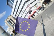 European_Union_Flag_in_Central_Nicosia_kiosk_Republic_of_Cyprus